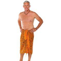1 World Sarongs Men's Abstract Sarong