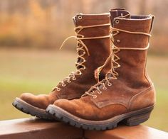 White's Logger Boots Roughout Leather USA made 11.5 B Rancher Spokane #Whites #LoggerRancher