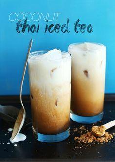 Vegan Thai Iced Tea - Made with black tea, vanilla, natural sweeteners, and creamy coconut milk!