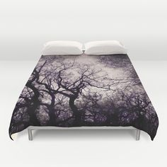 Beautiful Black trees - in the winter Duvet Cover