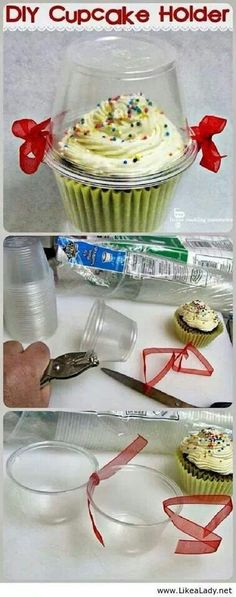 DIY Cupcake/Muffin Carrier. A cute gift for my floor!