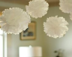 DIY Wedding Table Decoration Ideas - Homemade Paper Pom-Poms - Click Pic for 46 Easy DIY Wedding Decorations