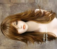 long hair with short layers - Google Search