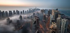 The Flow - The famous Dubai Marina during a fogy morning Aesthetic Vintage, Niagara Falls, New York Skyline, Dubai, Flow, Waterfall, Architecture, City, Places