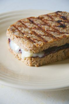 Grilled Blueberry  + Brie Sandwich ( and a quick 10-minute Blueberry Chia Jam recipe) // neverhomemaker