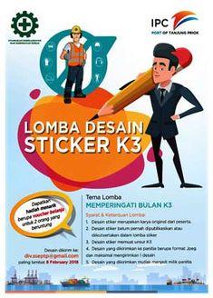 #InfoLomba #LombaDesain #DesainSticker #K3 #IPC #TanjungPriok Lomba Desain Sticker K3 2018 IPC Tanjung Priok  DEADLINE: 8 Februari 2018  http://infosayembara.com/info-lomba.php?judul=lomba-desain-sticker-k3-2018-ipc-tanjung-priok