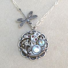 Sweet dragonfly necklace by Mystic Pieces
