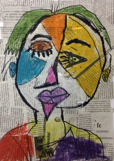 Picasso para niños 3 Pablo Picasso, Kunst Picasso, Picasso Art, Picasso Paintings, Portraits For Kids, Art Texture, Cubism Art, 5th Grade Art, Creative Workshop