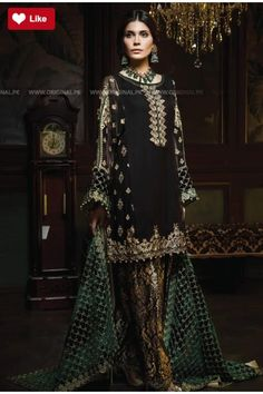 6cc4ff0311 Buy latest black color pakistani salwar kameez suits online for women in  UK, USA, Canada at lowest price from ZaraaFab. Get free delivery and  returns ...