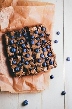 Blueberry Brownies | 15 DIY Snacks That Are Perfect To Take To The Beach