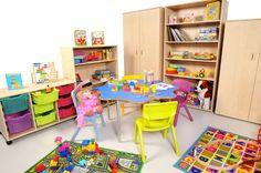 Create a colourful classroom Classroom Furniture, School Furniture, Classroom Design, Classroom Ideas, Kids Rugs, Storage, Create, Color, Home Decor