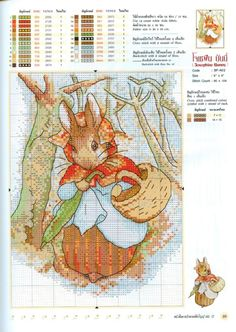 Crochet Bookmark Bunny Cross Stitch 25 Ideas For 2019 Cross Stitch Fairy, Cross Stitch Books, Cross Stitch Animals, Counted Cross Stitch Patterns, Cross Stitch Charts, Cross Stitch Designs, Cross Stitch Embroidery, Beatrix Potter, Peter Rabbit And Friends