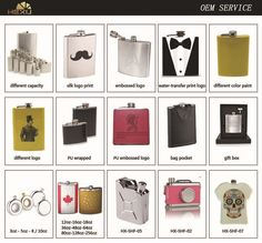 8oz stainless steel colored hip flask