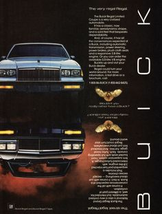 1986 Buick Regal.