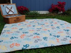 Waterproof Picnic Blanket Original Picnic Blanket by Poppiezlove