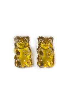 Yellow Gummy Bear Stud Earrings http://shop.nylon.com/collections/whats-new/products/yellow-gummy-bear-stud-earrings #NYLONshop