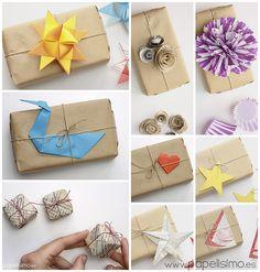 10 maneras de envolver regalos originales con papel de embalar