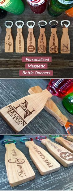 If you are looking for a beautiful, simple, personalized, thoughtful gift idea look no further! These incredible, personalized bottle openers make the perfect gift for any occasion. Made from m (Bottle Gift Ideas) Wedding Gifts For Guests, Gifts For Wedding Party, Party Gifts, Our Wedding, Dream Wedding, Wedding Favours Diy, Wedding Ideas, Personalized Bottle Opener, Personalized Gifts