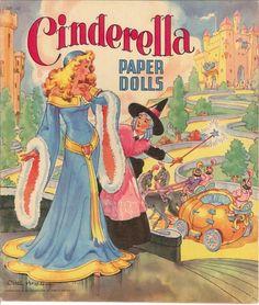 VINTAGE 1940S CINDERELLA PAPER DOLLS ~BEAUTIFUL LASER REPRODUCTION~ORIG SZ UNCUT