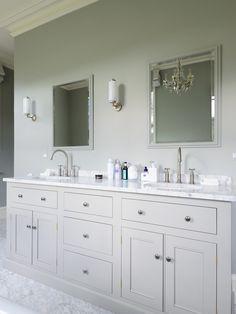 The beautiful South Downs bathroom by deVOL Bathroom Vanity Units, Diy Bathroom, Family Bathroom, Small Bathroom, Bathroom Sinks, Lodge Bathroom, Bathroom Quotes, Double Sink Bathroom, Bathroom Remodeling