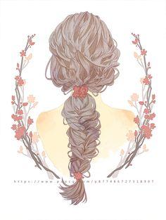 How To Draw Hair Cartoon Artists 23 Ideas Illustrations, Illustration Art, Anime Hair, Anime Art Girl, Aesthetic Art, Art Tutorials, Cute Wallpapers, Watercolor Art, Cool Art