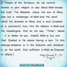 #jesusismuslim #Jesus #jesusislord #jesusissavior #jesussaves #jesusloves #christians #christianity #islam #Allah #Quran #holyspirit #holyghost #Bible #biblequotes #bibleverse #dailybible #truth #faith#God #Lord #gospel #trinity #islam#salvation #tawheed #shirk #wisdom #quotes #Quran #scripture #Mary Jesus-is-muslim.net Www.facebook.com/JesusisMuslimNet1