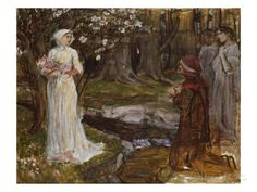 Dante and Beatrice Posters by John William Waterhouse at AllPosters.com