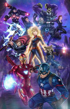 """Avengers Endgame Anime """"We're in the end game now."""" shop: Avengers Endgame Anime This. Captain Marvel, Ms Marvel, Mundo Marvel, Marvel Heroes, Marvel Characters, Captain America, Hulk Marvel, Marvel Comics, Marvel Fanart"""