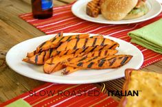 Grilled Sweet Potato Fries  from theslowroasteditalian.com #grilling #recipe