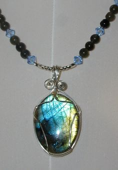 Labrodite and Crystals by jennyle18 on Etsy, $18.00