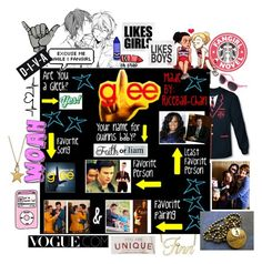 """GLEE changed my life"" by allisjess ❤ liked on Polyvore featuring Rachel, Anya Hindmarch, Hummel, Lisa Stewart, Betseyville, Diane Von Furstenberg and Børn"