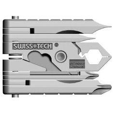 """Swiss+Tech MMCSSS Micro-Max 19-in-1 Keychain Multitool. Product Features        2 hex wrenches (1/4"""", 7/16""""), 6 screwdrivers (#0,1,2 flat, #0,1,2 Phillips)      Pliers, bottle opener, wire cutter and stripper, wire crimper      Hand drill, file, 2 rulers (mm and inch), 2 ruler extensions (mm and inch)      Limited lifetime warranty      This keychain multi-tool makes a great gift"""