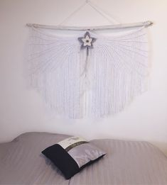This one was big work, I say 😅 Thin silver cord was good and bad idea 😂 mostly good anyways. I'm pretty happy with the result, what do you say? Macrame Art, Community Art, Boho Decor, Fiber Art, Boho Fashion, Cord, Wings, Good Things, Cable