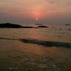 Sunset at Bangniang beach Khao-lak Phunknga Thailand
