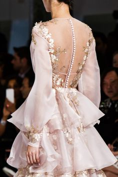 Detail at Ralph & Russo Spring 2016 Haute Couture.