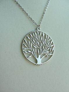 Silver Organic Tree -  gift,  wife, daughter, sister, bridesmaid, friend, engagement, birthday