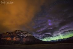 """Spirits in the Sky"" - One Last Look at the Amazing Aurora Display of June 1st 2013. Photo by Paul Zizka Photography."