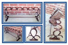 Horseshoe Boot Rack 3 Pair