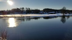 A cold and sunny winters day in the south of Dalarna Sweden