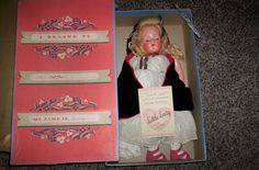 RARE VINTAGE EFFANBEE LITTLE LADY DOLL COMPOSITION YARN HAIR BOX/PAMPHLET/COMB  #Effanbee Effanbee Dolls, Composition, Lady, Box, Vintage, Boxes, Musical Composition, Vintage Comics, Writing