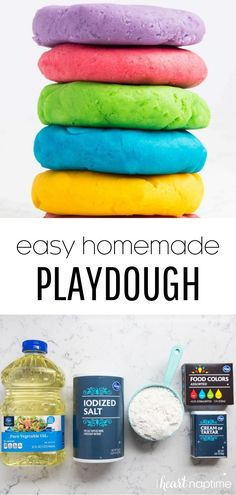 The BEST homemade playdough recipe - I Heart Naptime Crafts For Boys, Craft Activities For Kids, Preschool Crafts, Toddler Activities, Projects For Kids, Diy For Kids, Fun Crafts, Indoor Activities, Summer Activities