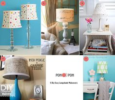 5 Diy Easy Lampshade Makeovers!