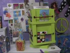 Come and join me on a tour of my colourful and funky Studio - called Creative Juice Studio! How Lucky Am I, Work Spaces, Violet, Altered Art, Toy Chest, Bliss, Studios, Mixed Media, Tours