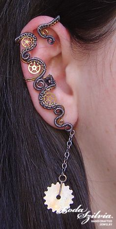 so cool, no piercing required #steampunk