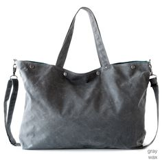 The Porter in waxed canvas from Moop. It's like a hipster Longchamp bag - great for travel.