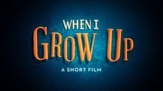 """When I Grow Up"" follows the imagination of a young boy's dreams for his future.   Direction, Animation & Story - Colin Hesterly 