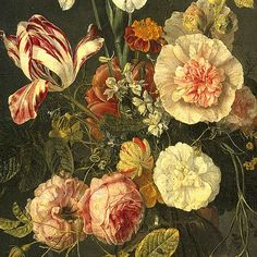 Jacob van Walscapelle, Flower Still Life, detail