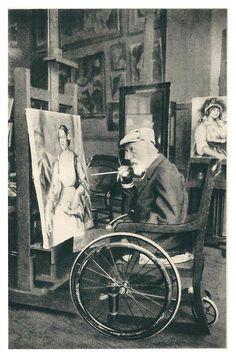 Pierre-Auguste Renoir in his Studio (Atelier), 1914