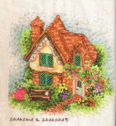 Schema punto croce Casa Dei Nonni 01
