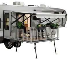 The Patio and Patio Awning is available only on the Open Range 337 RLS, 345 RLS and 375 RLS wheel floor-plans. The Patio is also available on the Journeyer 340 FLR and all new 359 FKS, travel trailers - rugged liferugged life Kombi Motorhome, Rv Campers, Camper Trailers, Travel Trailers, Happy Campers, Mini Motorhome, Trailer Awning, Truck Camper, Camper Van